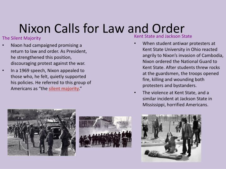 Nixon Calls for Law and Order