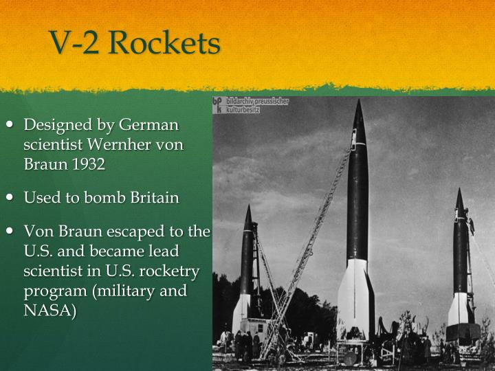 V-2 Rockets