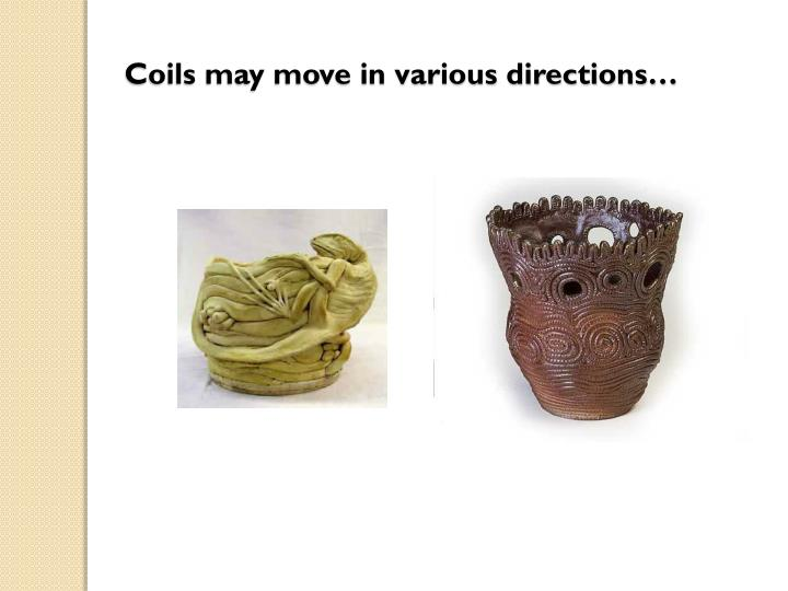 Coils may move in various directions…