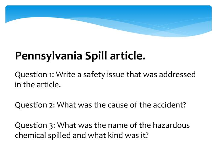 Pennsylvania Spill article.