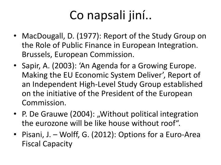 Co napsali jin