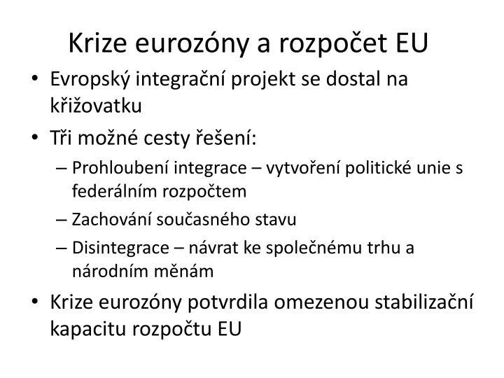 Krize eurozóny a rozpočet EU