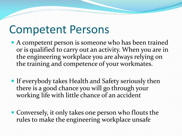 Competent Persons