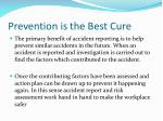prevention is the best cure