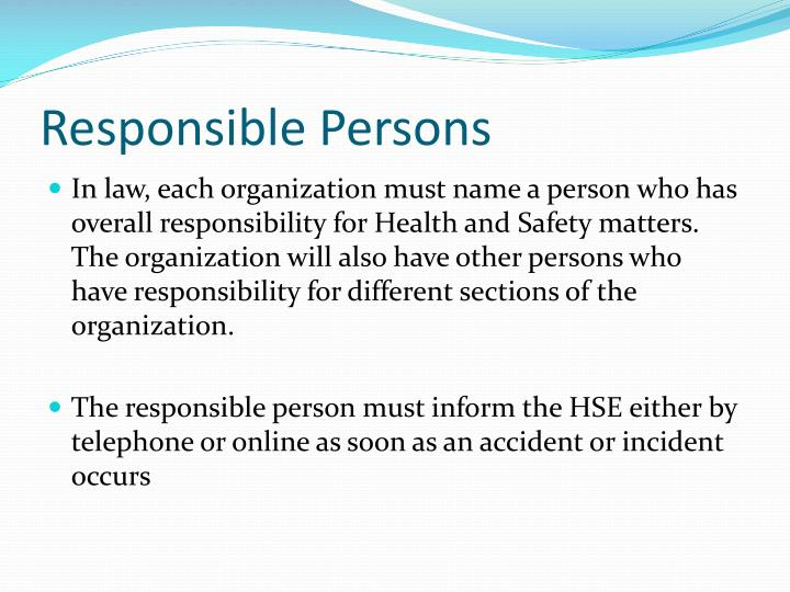 Responsible Persons