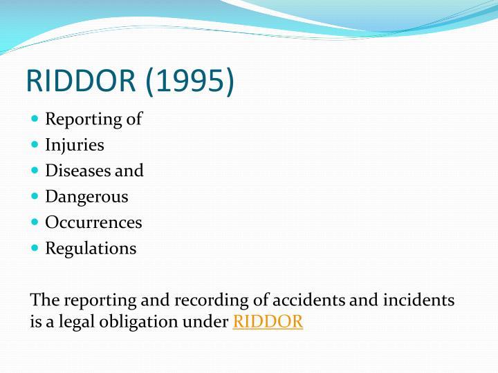 RIDDOR (1995)