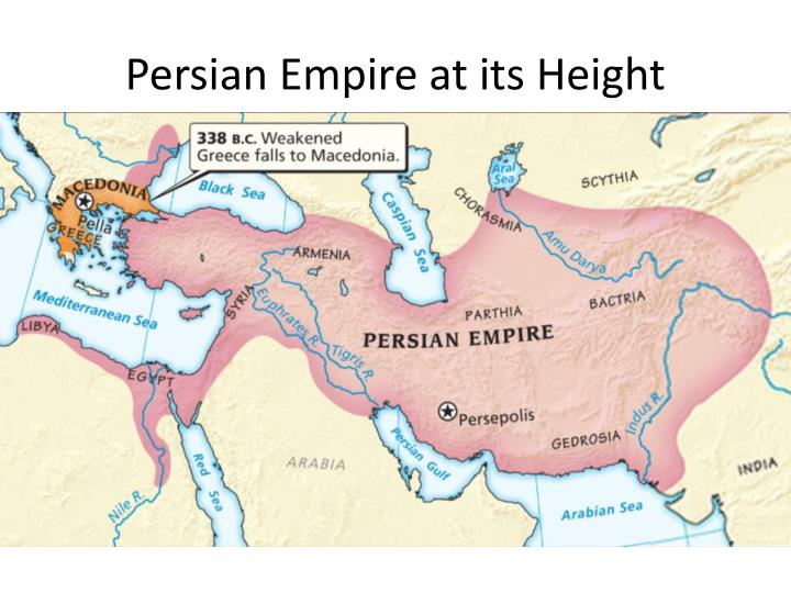 Persian empire at its height