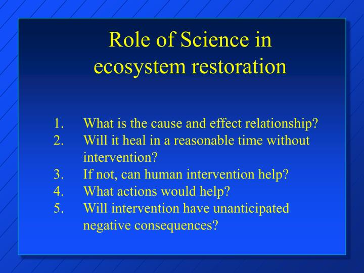 Role of Science in