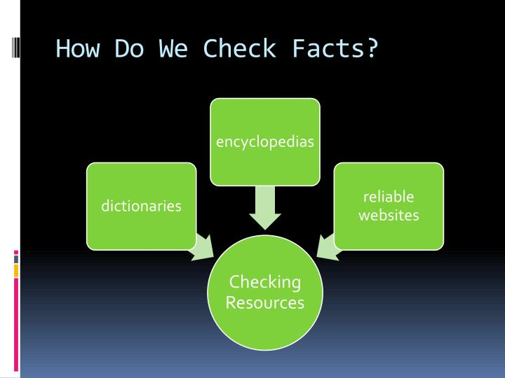 How Do We Check Facts?