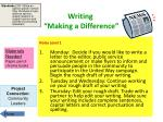 writing making a difference