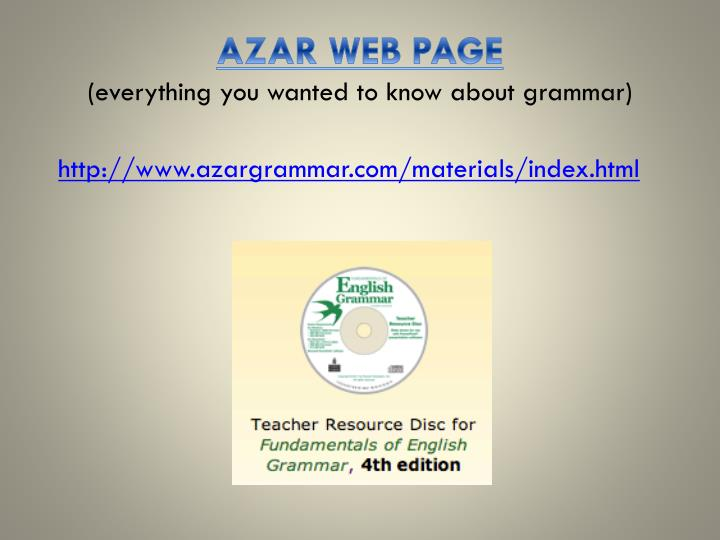 Azar web page everything you wanted to know about g rammar