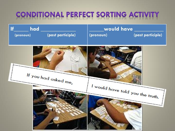 Conditional Perfect Sorting