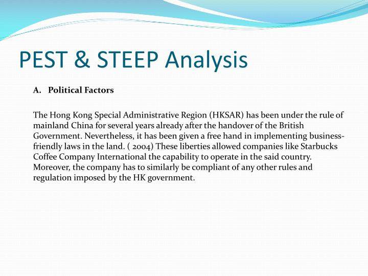 PEST & STEEP Analysis