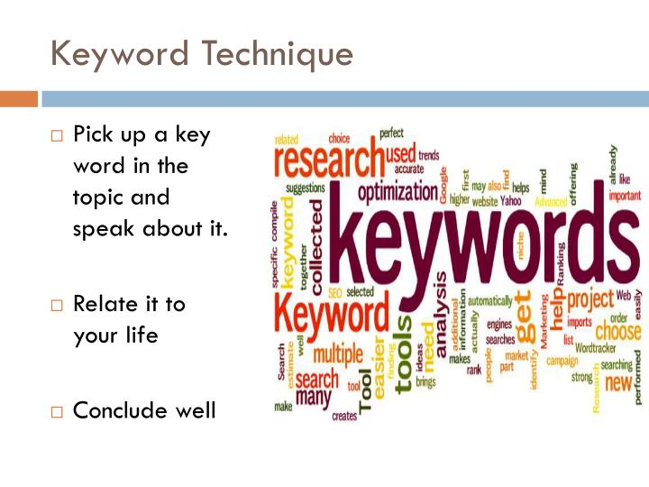 Keyword Technique