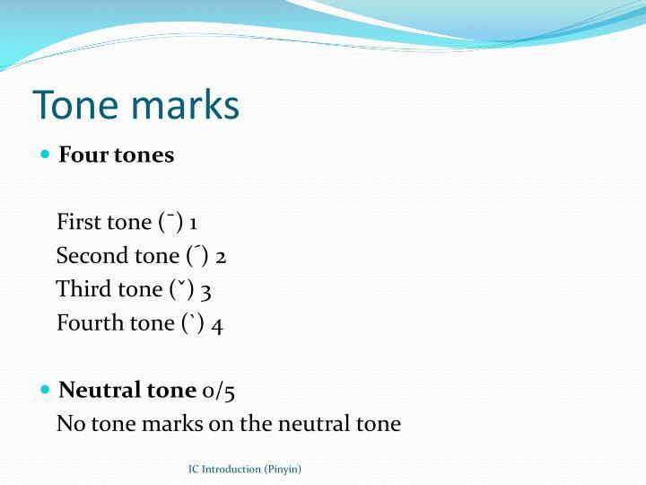 Tone marks