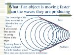 what if an object is moving faster than the waves they are producing
