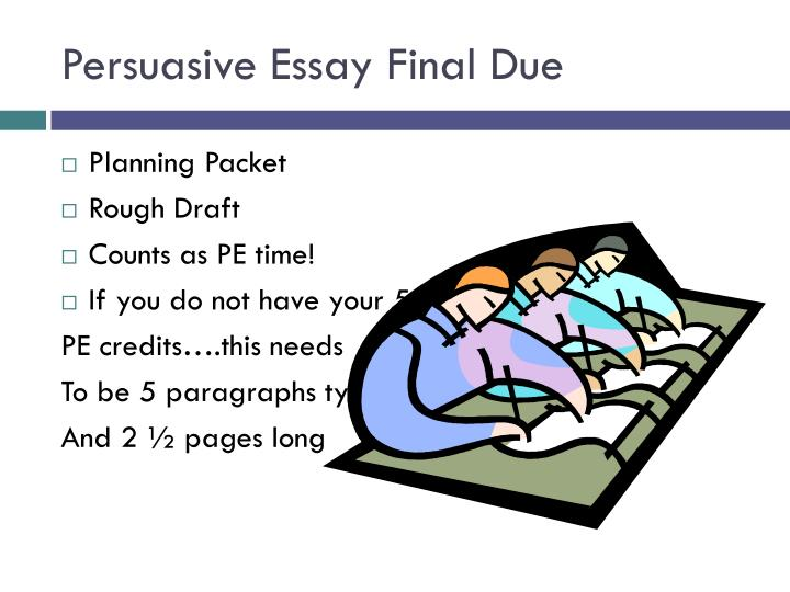 Persuasive Essay Final Due