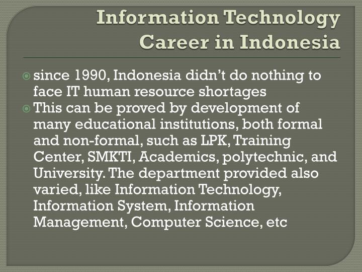 Information Technology Career in Indonesia