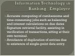 information technology in banking employee