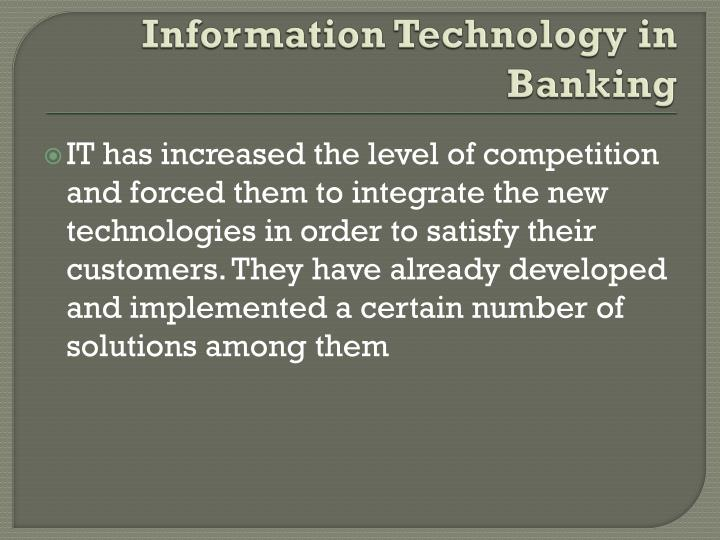 Information Technology in Banking