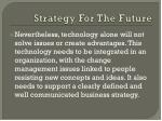 strategy for the future2