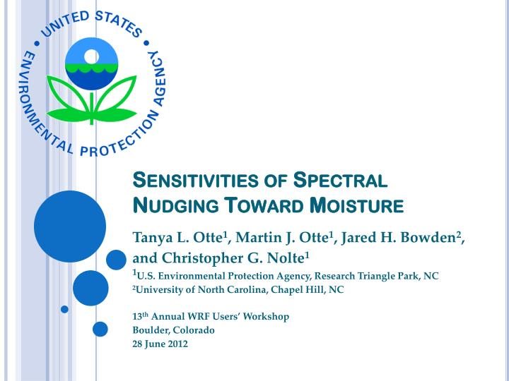 Sensitivities of spectral nudging toward moisture