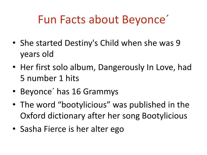 Fun facts about beyonce