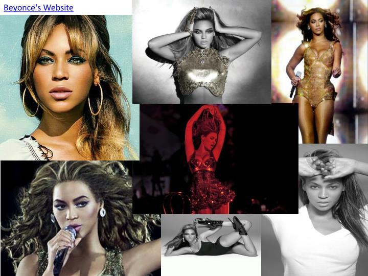 Beyonce's Website