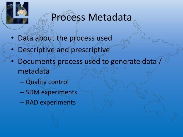 Process Metadata