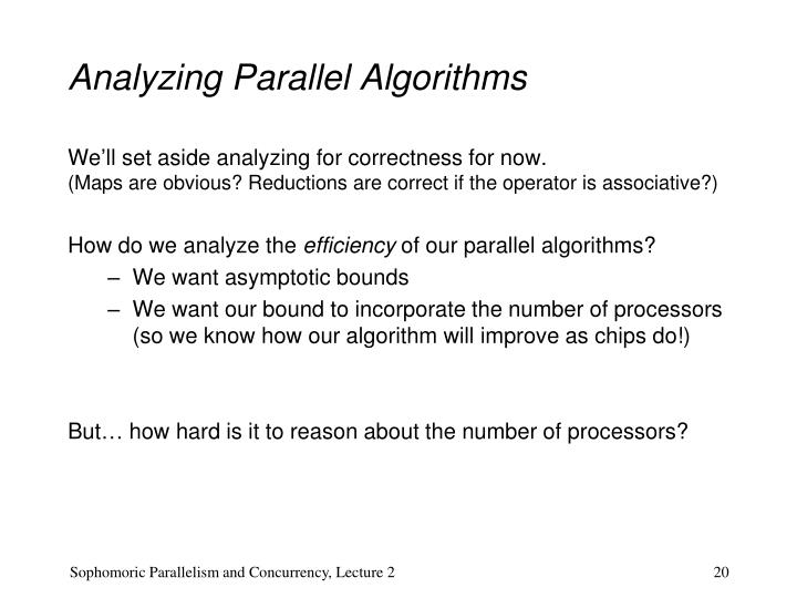 Analyzing Parallel Algorithms
