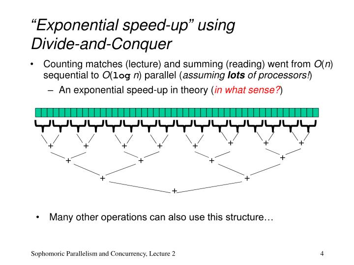 """Exponential speed-up"" using"