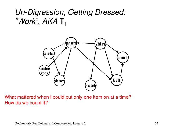 Un-Digression, Getting Dressed: