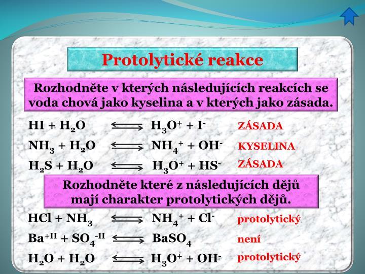 Protolytické