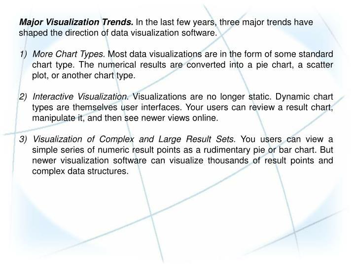 Major Visualization Trends.