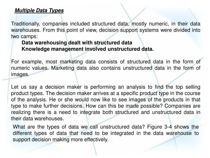 Multiple Data Types