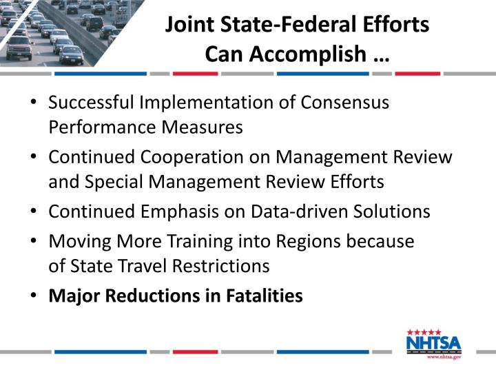 Joint State-Federal Efforts