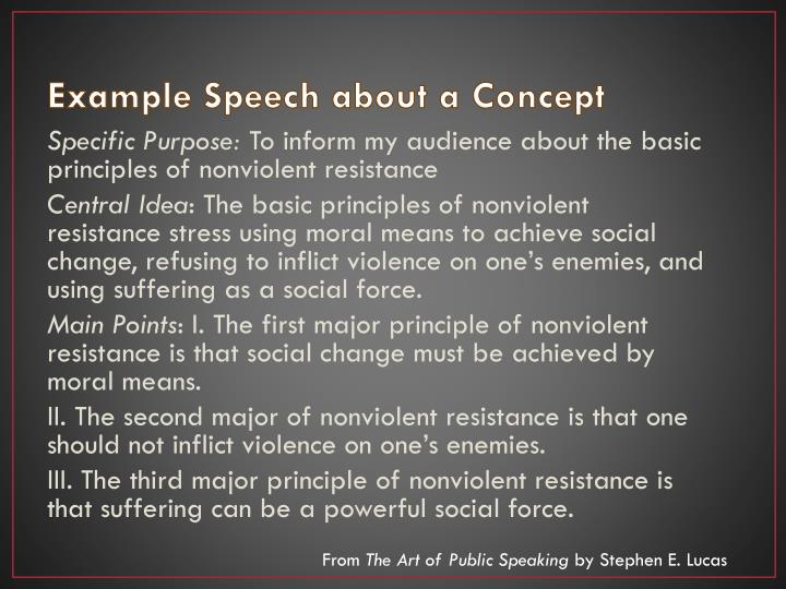 Example Speech about a Concept