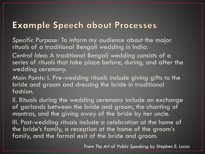 Example Speech about Processes