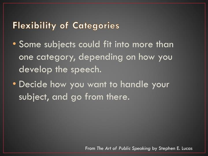 Flexibility of Categories