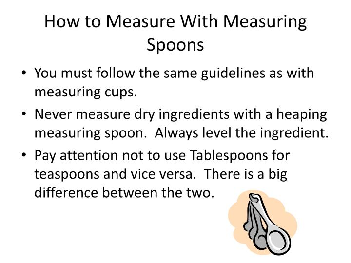 How to Measure With Measuring Spoons