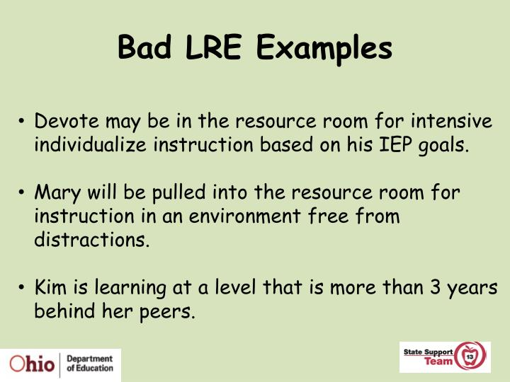 Bad LRE Examples