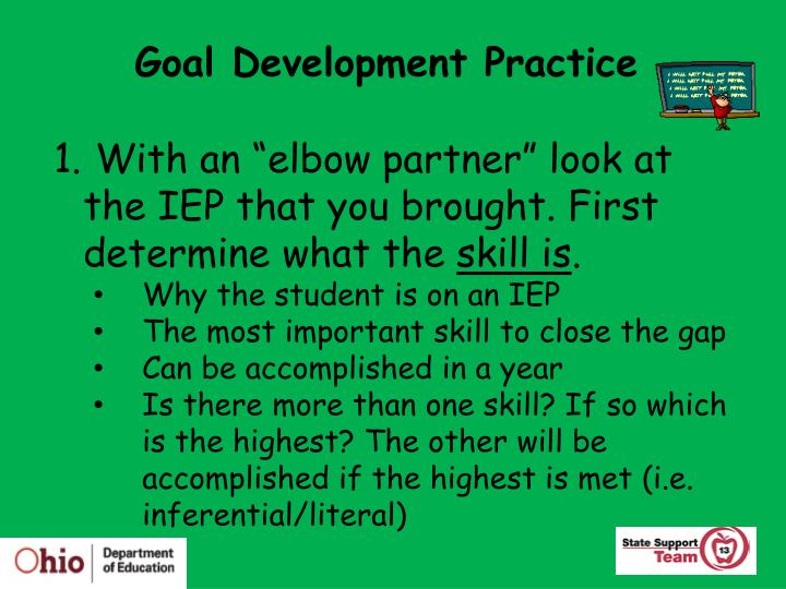 Goal Development Practice