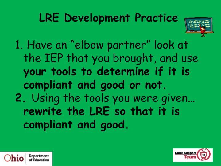 LRE Development Practice