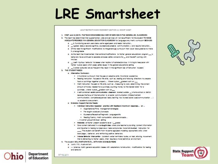 LRE Smartsheet