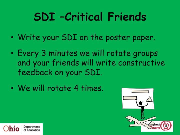 SDI –Critical Friends