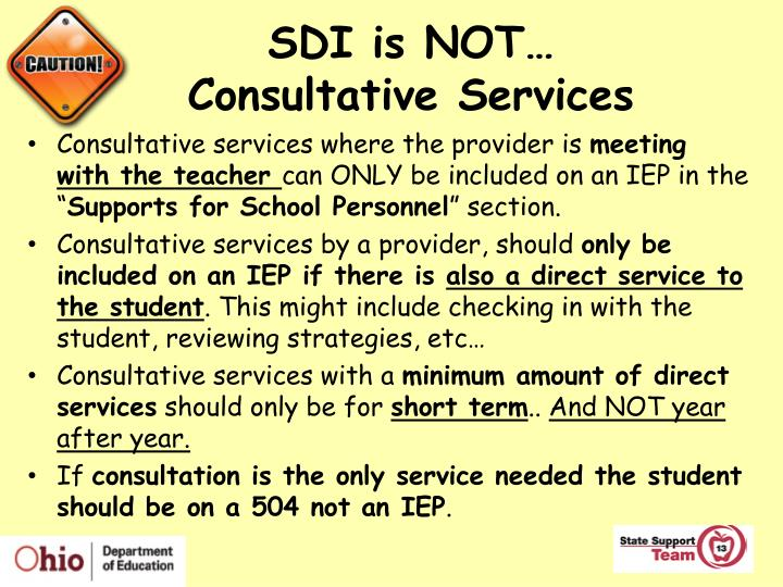 SDI is NOT…