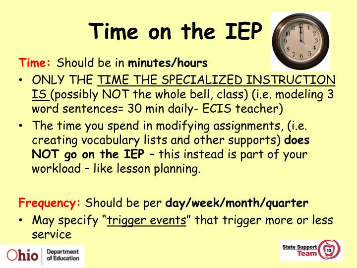 Time on the IEP