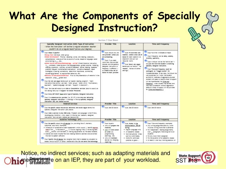 What Are the Components of Specially Designed Instruction?