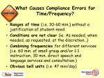what causes compliance errors for time frequency