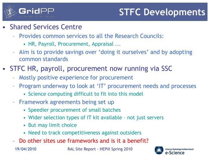 STFC Developments